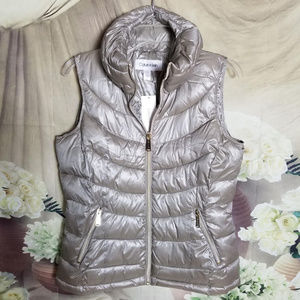 Calvin Klein Quilted Vest Zip Up Front Pockets